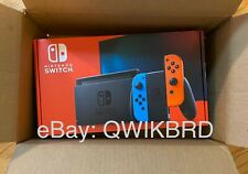 SHIPS TODAY - Nintendo Switch with Neon Blue and Red Joy‑Con (Newest Model)