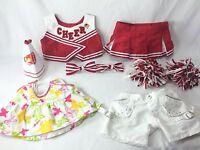 Build A Bear Workshop BABW Outfits Clothing Lot Shirt Pants Cheerleader