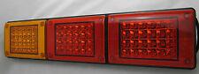 Pair 12/24V LED Jumbo Tail lights, Amber/Red/Red, Truck,Bus,Ute,Trailer,Caravan