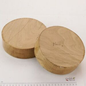 2 English Oak woodturning or wood carving bowl blanks.  165 x 50mm.   6294A