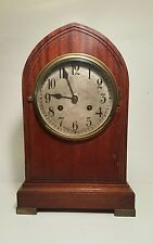 Antique Gustav Becker Bracket Mantel Clock: 5 Bar Chime, key, working!!