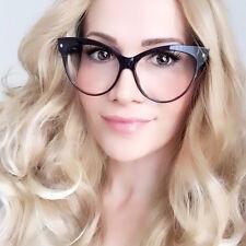 Large Big Cat Eye Mohotani Sexy Kitti Nerd Geek Clear Lens Eyeglasses Frames 018