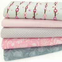 100/% Coton Fat Quarter Tissu Bundle Florence Rose Spot /& Ditsy floral matériau