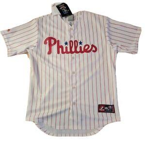 Raul Ibañez Philadelphia Phillies Majestic Pinstripe Baseball Jersey  M VTG NWT