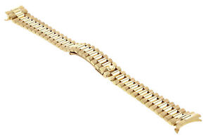 13MM 14K YELLOW GOLD PRESIDENT WATCH BAND FOR 26MM ROLEX DATEJUST, PRESIDENT