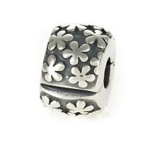 Genuine Pandora Silver Daisy Flowers Clip Charm 790533