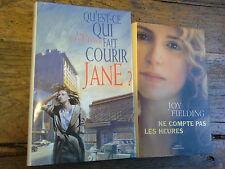 2 livres Joy Fielding ne compte pas les heures Qu'est ce qui fait courir Jane