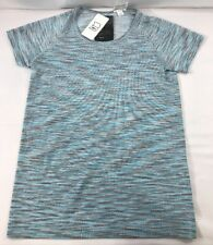 06589935575 Nike Dri-Fit Knit Shirt Womens Running Small Cool Grey Blue 833565-067