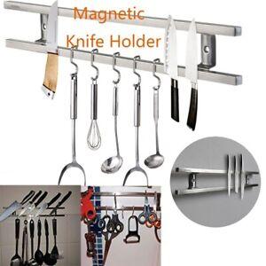OUNONA Wall-mounted Magnetic Holder Double Bar Rack Knives Utensils Kitchen Set