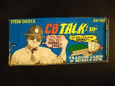 1977 CB TALK FULL WAX BOX (24 CARD PACKS)  FLEER