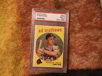 1959 Topps Ed Mathews PSA 7 (OC) Braves #450