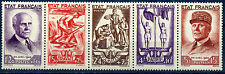 FRANCE 1943 SERIE COMPLETE YVERT 580A LUXE ** COTE 155E