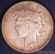 1922 USA US Peace Dollar 90% silver nice coin, Liberty Head *[6940]