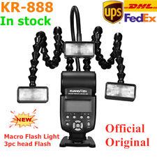 KUANGREN KR-888 Macro Flash Light 3PC head Flash Speedlite For Canon Nikon Sony