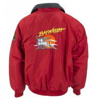 Baywatch Lifeguard David Hasselhoff Red Bomber Jacket