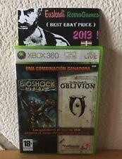 Bioshock & The Elder Scrolls IV : Oblivion Pack // XBOX 360 - PAL ESP - Completo