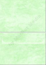 Marmorkuverts DIN C6 100 Kuverts grün