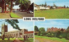 postcard  Suffolk Long Melford multiview  unposted