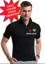 Custom Personalized T-Shirt Printing POLO SHIRT (Your Logo or Text) Full Color