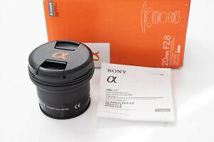 Sony 20mm f2.8 A-mount