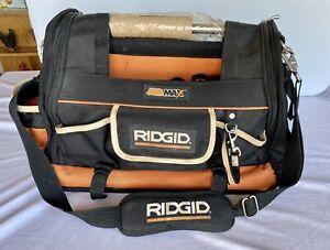 Rigid JobMax Canvas Tool Bag  20inW x 11inD x14inH) Contractors Case