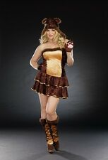 Dreamgirl Plus Size Bear Hugs Costume size 1X/2X (missing boot covers)