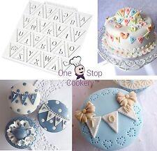 Katy Sue ALPHABET BUNTING Silicone Sugarcraft Buntings Cake Mould Art & Craft