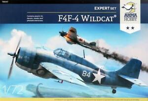 Arma Hobby 1/72 US F4F-4 WIldcat Expert Set 70047