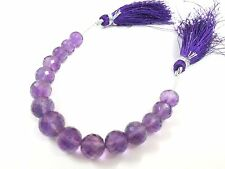 "1 Strand Natural Amethyst Round Ball Faceted Gemstone Loose Beads 5""Inch 8-10mm"