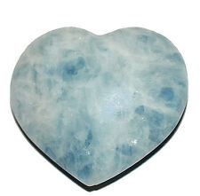 Blue Calcite Heart 60mm wide Shamans Stone, Astral Travel,#9321