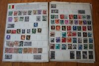 A26 Lot of Italy Stamps on 3 Minkus binder Pages