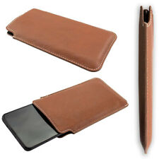 caseroxx Business-Line Case for HTC Wildfire X in brown made of faux leather