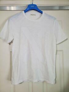 "Alex Mill ""X"" Graphic T Shirt White S Men's Slub Cotton"