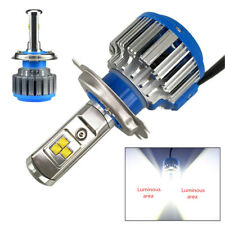 H4 LED Headlight Bulb 40W High/Low Light w/ Adaptor for Motorcycle Moped Scooter