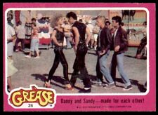 Topps Grease Card (1978) Danny and Sandy - made for each other! No. 26