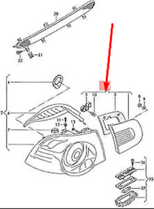 VOLKSWAGEN EOS 1F7 Rear Tailgate Trunk Lid Left Light 1Q0945093AD NEW GENUINE