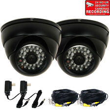 2x Outdoor Security Camera IR Night Vision 600TVL 28 LEDs Built-in Sony CCD BVL