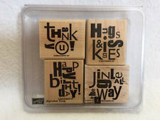 Stampin Up Alphabet Soup 4 Stamp Set Birthday Thank You Xmas Valentines Sayings