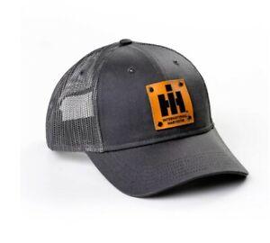IH Leather Emblem Men's Hat, Gray Mesh Back