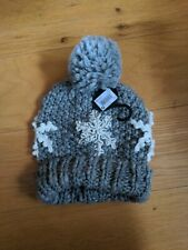 Next Ladies Grey Sparkly Wooly Hat Christmas Winter BNWT