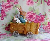 Bethany Lowe Easter Bunny Rabbit in Sponge Car Vintage Style New