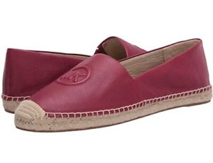 Women MK Michael Kors Dylyn Espadrille Slip On Flat Leather Berry