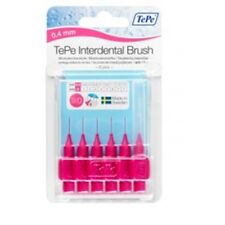 Tepe Interdental Brush Pink 0.4mm Pack Of 6 - 04mm Brushes Size