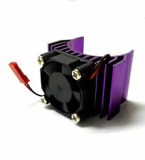 HY00019P 540 550 Motor Cooling Heatsink Heat Sink Vented Alloy Purple Single Fan