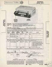 Motorola Car Radio Model CTM 3 - Sams PhotoFact Docs
