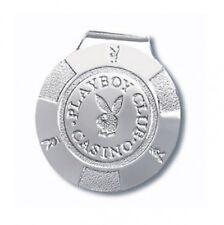 Playboy Logo Chrome  Metal  Money Clip
