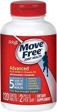 Schiff Move Free Advanced Plus MSM - Vitamin D3 Coated Tablets 120 ea (5 pack)
