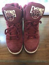 Patrick Ewing Athletics 33 Hi Basketball Shoe Size 11M RED WHITE