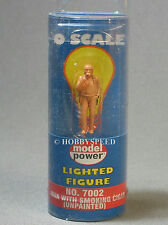 MODEL POWER O SCALE LIGHTED FIGURE MAN WITH SMOKING CIGAR unpainted MPW 7002