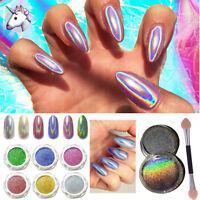 15μm UNICORN POWDER Holographic Mirror Effect Powder Nail Art Pigment 6 COLORS